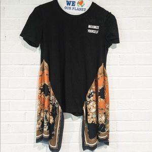 Zara Handkerchief Graphic T-Shirt